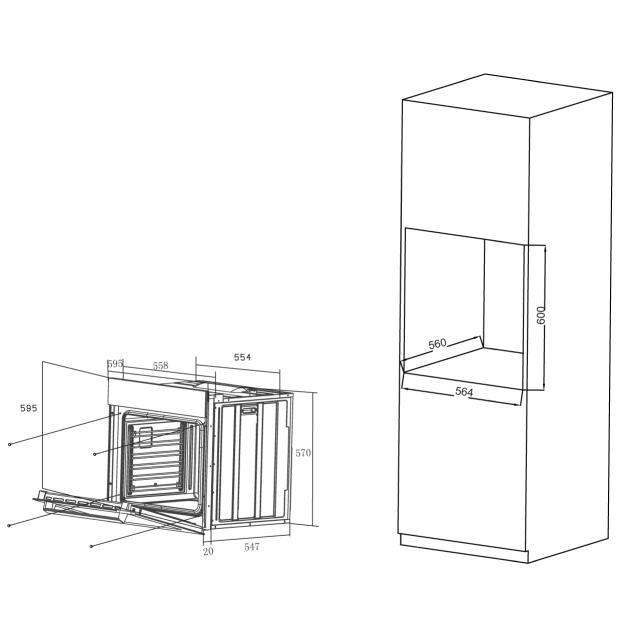 Электрический духовой шкаф HOX-PO6HGBX